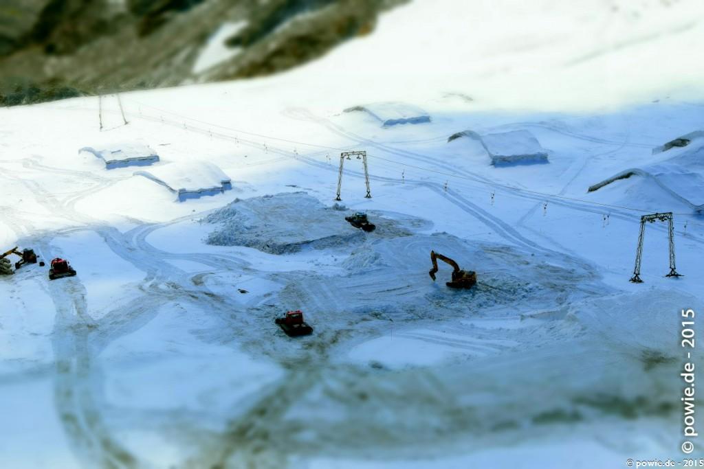 Gletscher Skigebiet