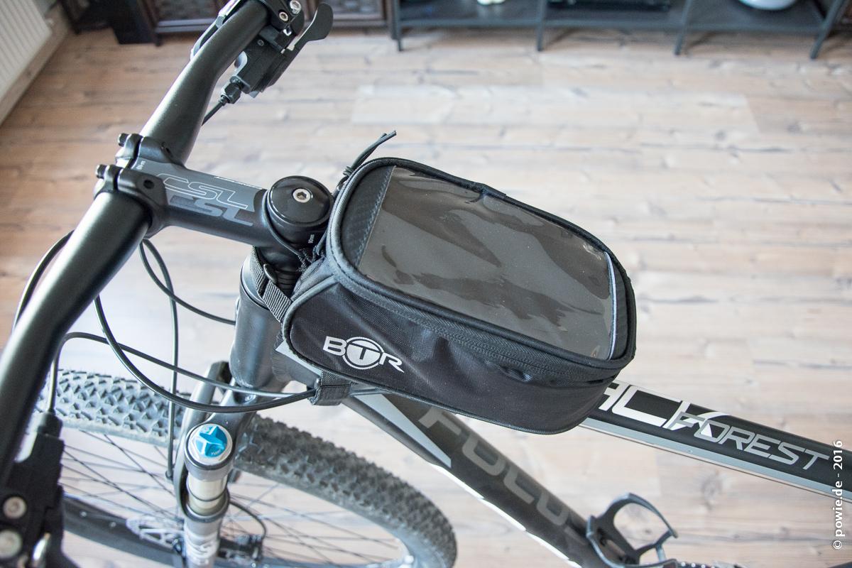 BTR Fahrradtasche als Handyhalter