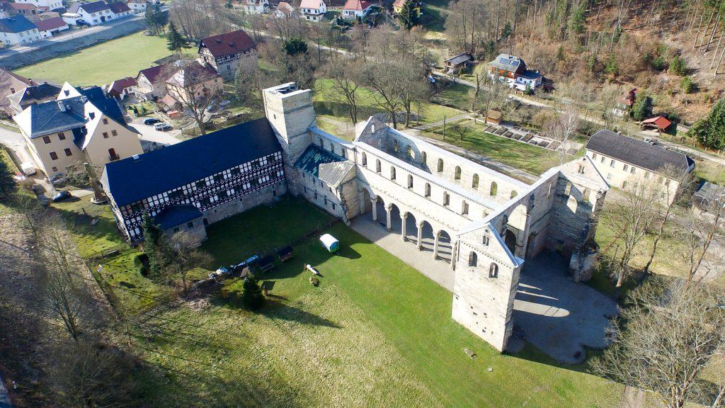 Klosterruine Paulinzella Luftbild