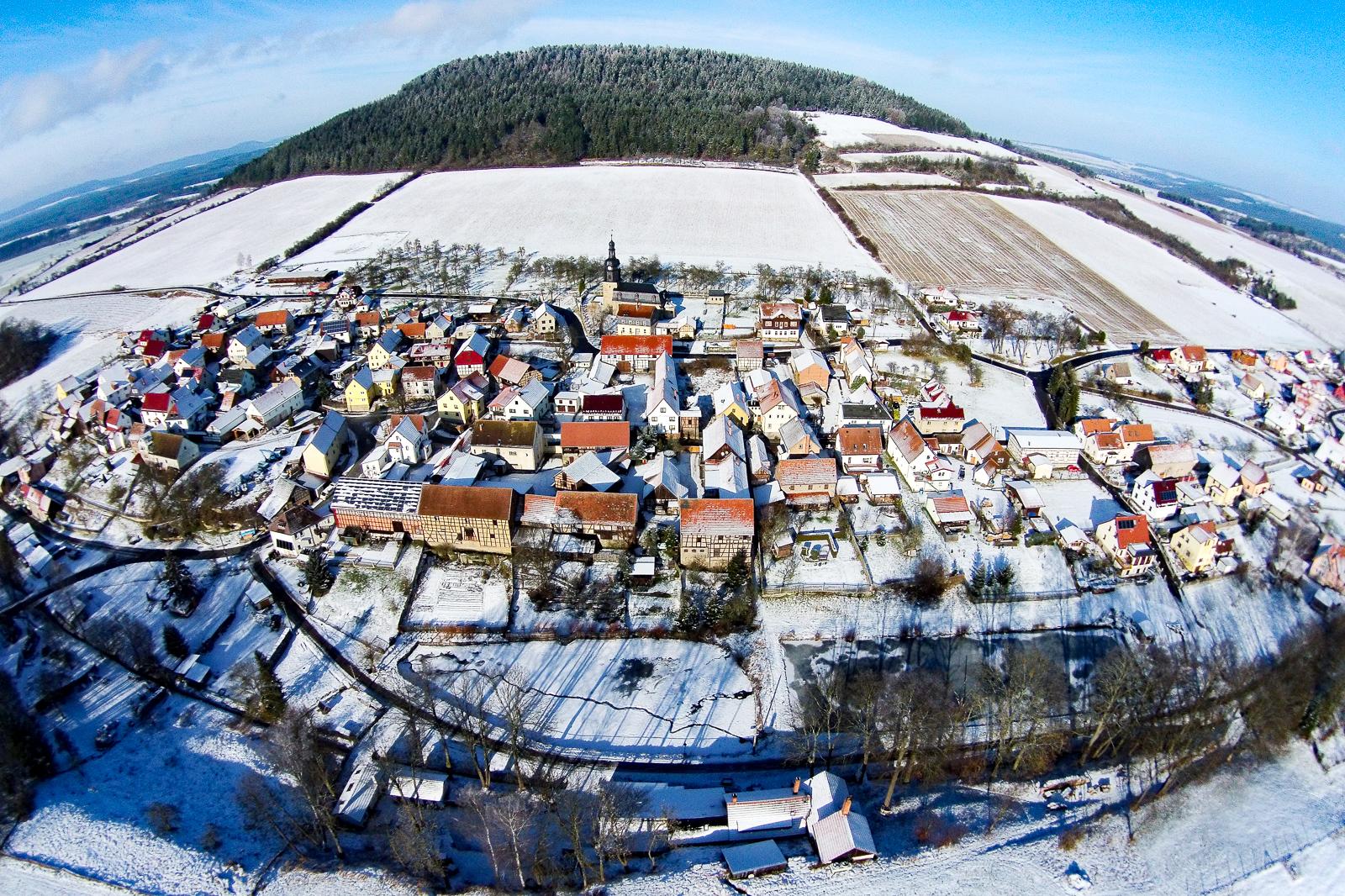 Singen Thüringen Luftaufnahme