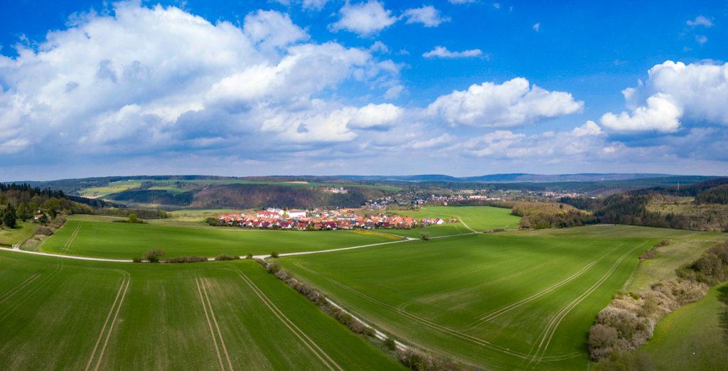 Kranichfeld Luftbild