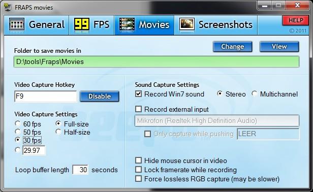 FRAPS Videos und Windows Live Movie Maker